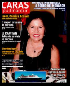 Portada Revista Caras de Pullmantur Cruceros, con Vicky Padilla