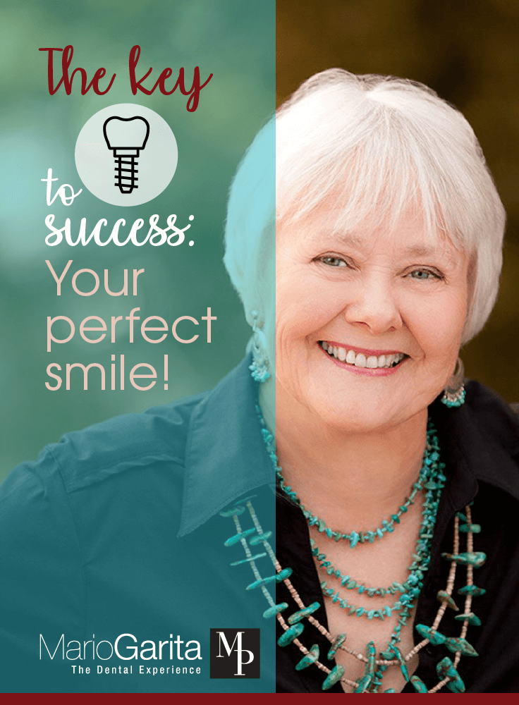 Dentistry woman with perfect smile, the key to success