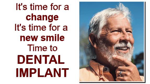 Man smiling, man decided to do a Dental Implant
