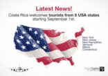 Costa Rica will allow entry via air of international tourist
