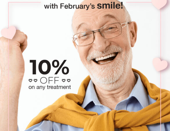 Fall in love with your Dental Implans Costa Rica february's smile